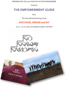 The Empowerment Guide – manual for youth workers Learning for change