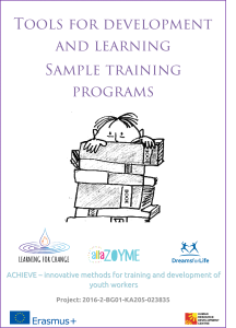 Tools for development and learning Sample training programs Learning for change