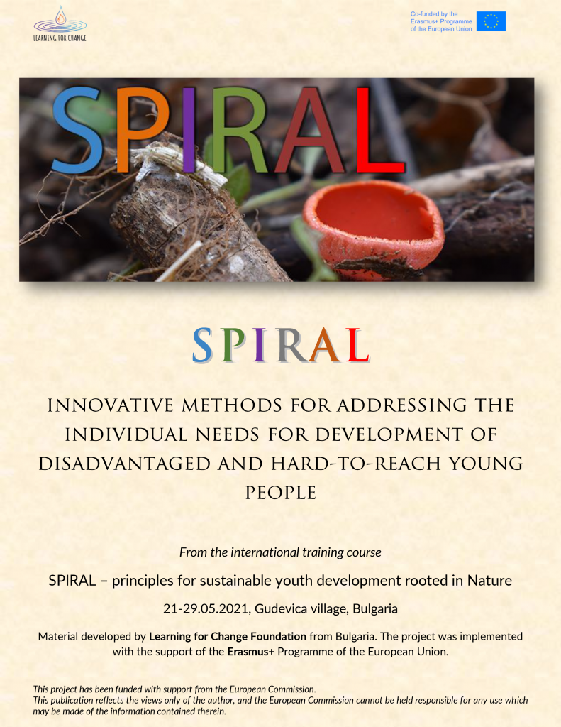 Manual with methods from the project Learning for change